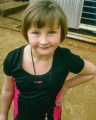 Kayla Meyer, 9, was murdered in Rodora, Randfontein on the night to March 10, 2016. Her teacher describes her as a kind-hearted girl who 'always wanted to help the rest of the learners' and would share her last money with her friends. Photo: Private