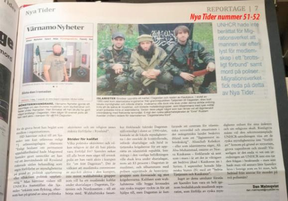 Terrorist fick stanna i Sverige, Nya Tider 51-52, 2014