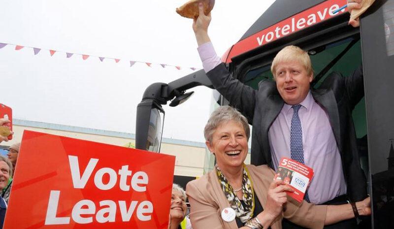 Boris Johnson, Lämna-kampanjens företrädare. Foto: Facebook