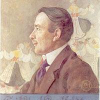 Erik Axel Karlfeldt, målning av Carl_Larsson.