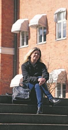 annelie sjöberg vill inte vara feminist i dagens Sverige. Hon menar att dagens feminism struntar i obekväma frågor, bland annat kvinnors situation i andra länder. Foto: Nya Tider