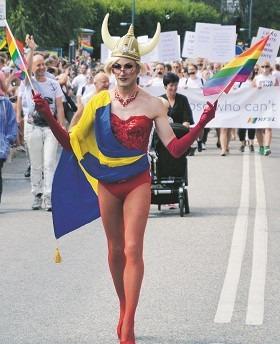 Årets pridefestival var enligt uppgifter något mindre obscen än tidigare års upplagor. Foto: Nya Tider