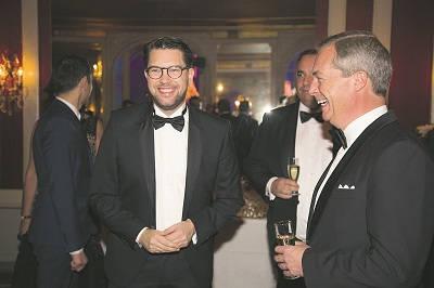 Jimmie Åkesson och Nigel Farage. Foto: Roger Sahlström/Nya Tider